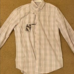 Light pink and gray Calvin Klein button down